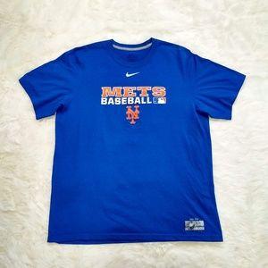 Nike | Dri-Fit Mets Baseball Short Sleeve Shirt